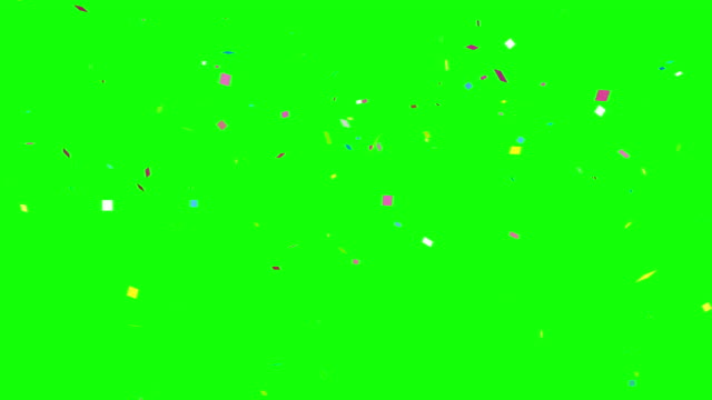 confetti Colorful celebration frame background green 4k