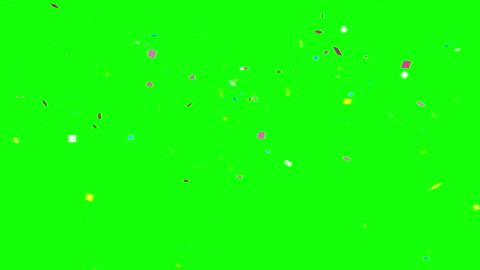 konfetti bunte feier rahmen hintergrund grün 4k - konfetti stock-videos und b-roll-filmmaterial