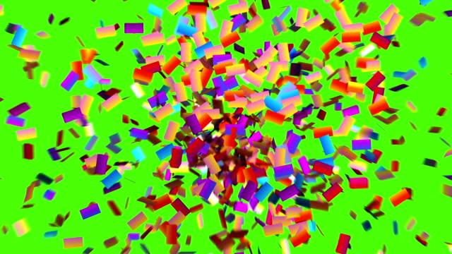 Confete explode e congela na tela - vídeo