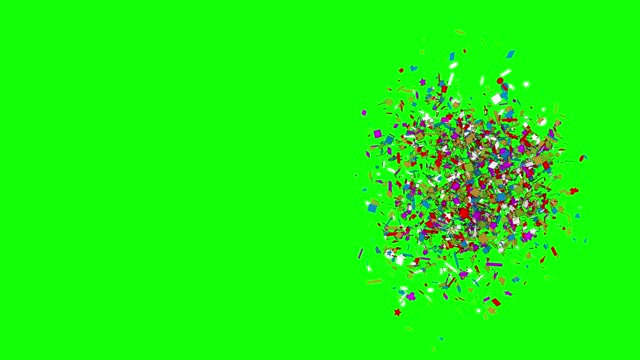 Confetti explosion, loopable colorful party celebration confetti (series)
