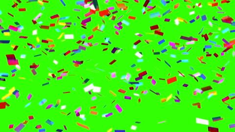 konfetti fällt auf grünem hintergrund - konfetti stock-videos und b-roll-filmmaterial