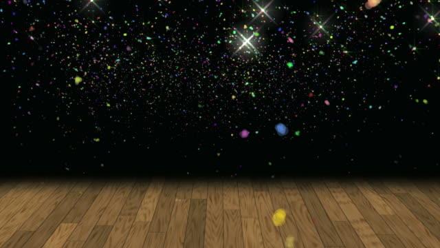 confetti glitter background loop - dansbana bildbanksvideor och videomaterial från bakom kulisserna