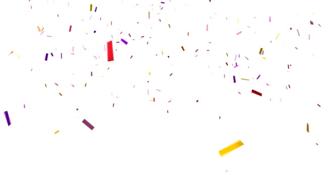Confetti HD on White Background video