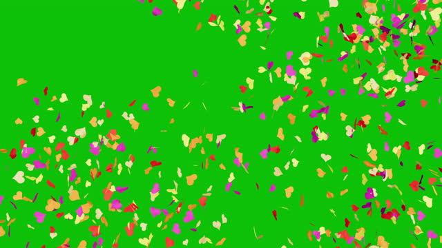 Confetti Heart Shower video