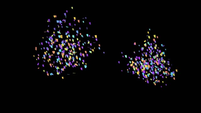 Confetti Party Popper Explosions on a Black Background. Alpha Channel Included. Confetti Party Popper Explosions on a Black Background. Alpha Channel Included. 4K fireworks videos stock videos & royalty-free footage