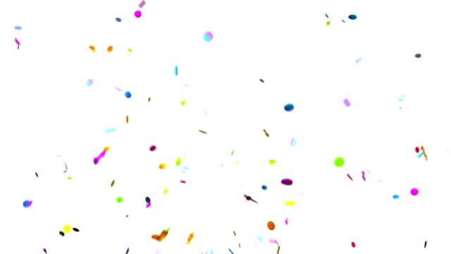 緑の背景に紙吹雪パーティー ポッパー爆発 - 紙吹雪点の映像素材/bロール