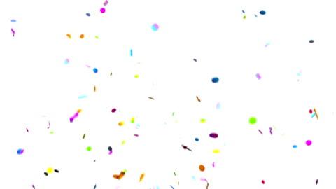konfetti party popper explosionen auf grünem hintergrund - konfetti stock-videos und b-roll-filmmaterial