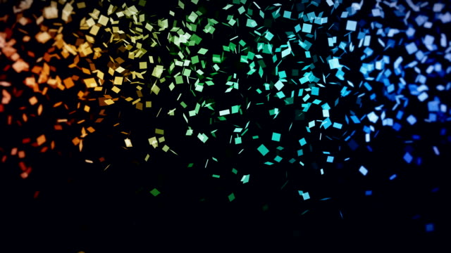 Confetti squares background loop