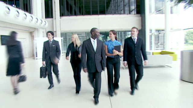 pewnie biznes drużyna w biurze - praca w sektorze handlowym filmów i materiałów b-roll