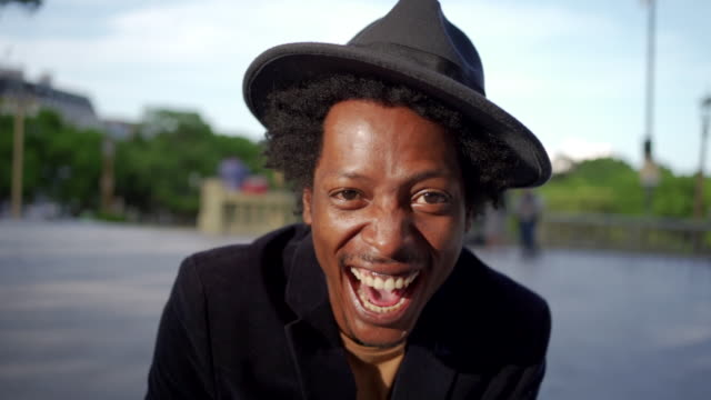 Confident, smiling Afro-American man