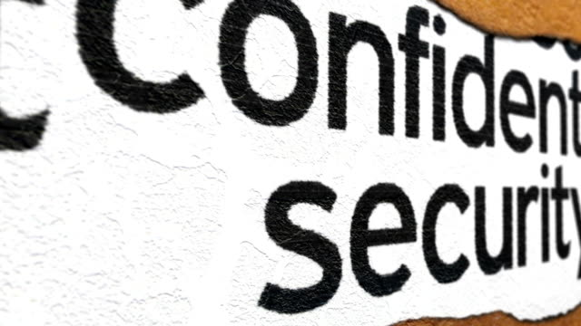 Confidential and security grunge concept video