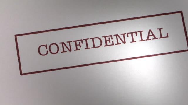 vidéos et rushes de confidentiel - mystère