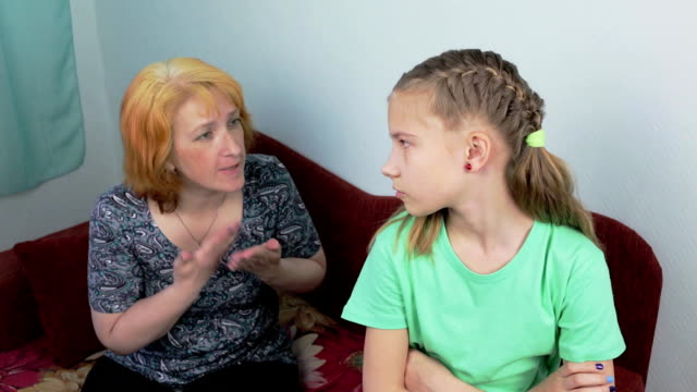 Conflict in the family between mother and daughter video