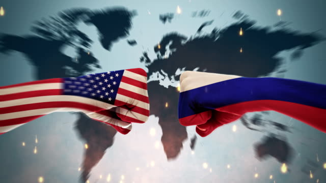 4K Conflicts Between Countries - America and Russia Conflicts Between Countries Animation international match stock videos & royalty-free footage