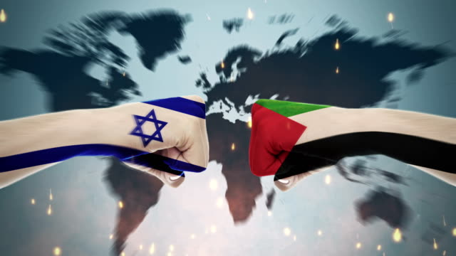 4K Conflicts Between Countries - Palestine and Syria Conflicts Between Countries Animation international match stock videos & royalty-free footage