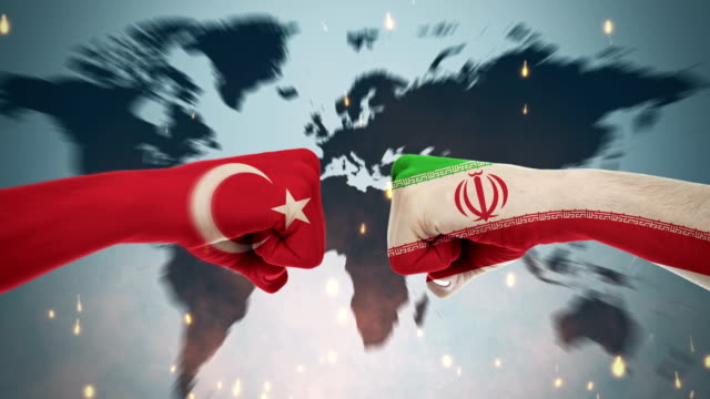 4K Conflicts Between Countries - Turkey and Iranian Conflicts Between Countries Animation new world vulture stock videos & royalty-free footage