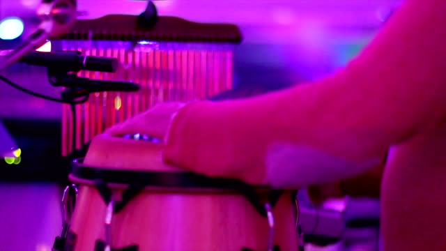 Congas Men playing congas on wedding celebration performer stock videos & royalty-free footage