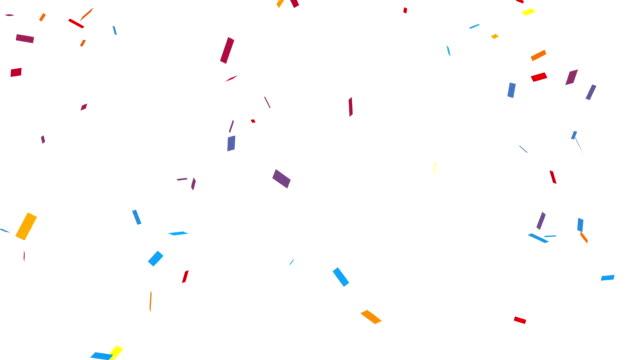 Congratulation Party Confetti with Alpha Channel