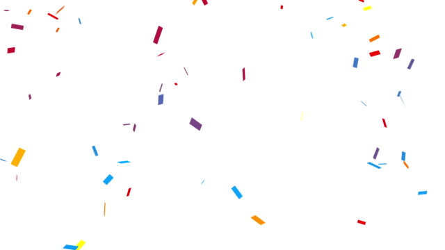 Congratulation Party Confetti with Alpha Channel video