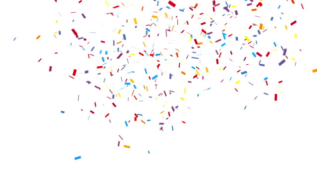 congratulation party confetti with alpha channel - congratulations stock videos & royalty-free footage