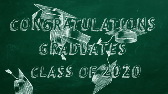 congratulations graduates. class of 2020. - tocco accademico video stock e b–roll