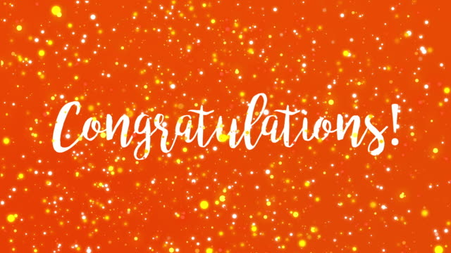 Congratulations greeting card video