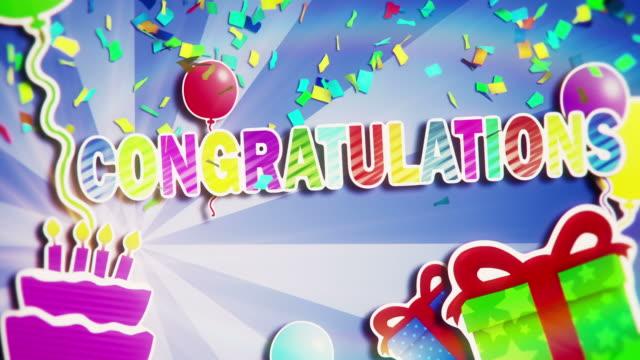 ¡Felicitaciones - vídeo