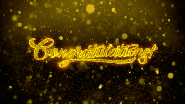 congratulations wishes greetings card, invitation, celebration firework - congratulations stock videos & royalty-free footage