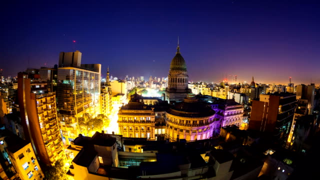 Congreso and Buenos Aires Skyline Timelapse video
