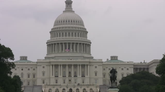 US Congress--Capitol Dome Zoom-In, Washington DC--HD video