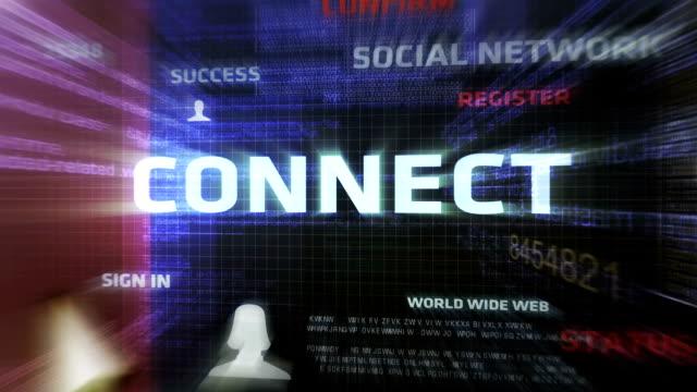 Connect Button (Dark) Digital World www stock videos & royalty-free footage
