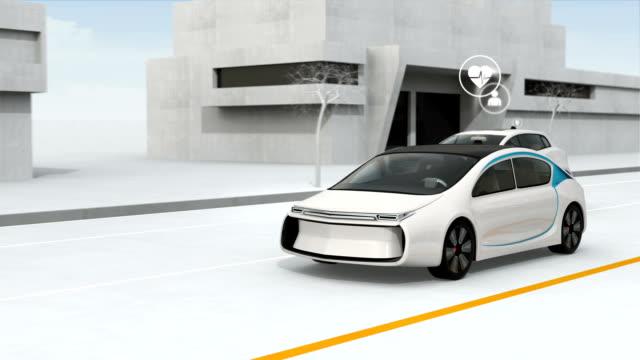Connected cars and autonomous cars concept video