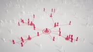 istock Connected People (Bright, Red) - Social Media, Networking - Coronavirus, Epidemiology, Infectious Disease 1218975531