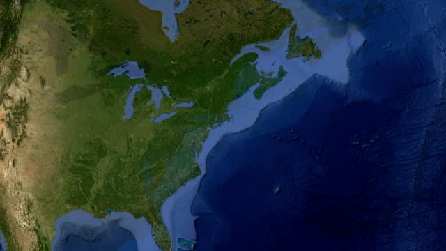 connecticut hardfort usa - map oceans bildbanksvideor och videomaterial från bakom kulisserna