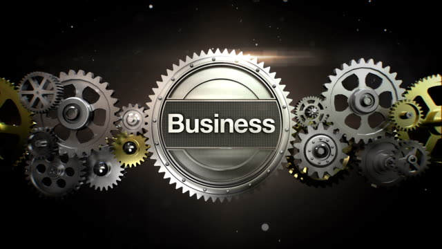 connecting gear wheels,  and make keyword,  'business' - business symbols stock videos & royalty-free footage
