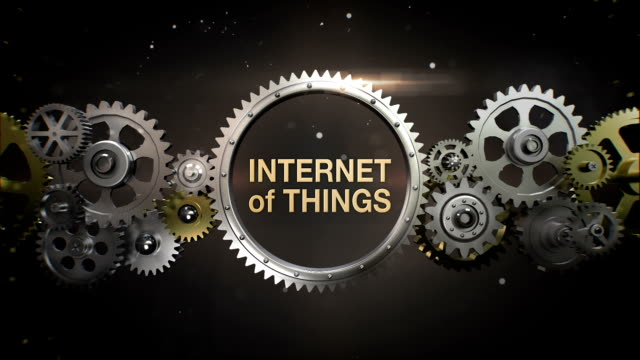 Connecting Gear wheels and make keyword, 'INTERNET OF THINGS' video
