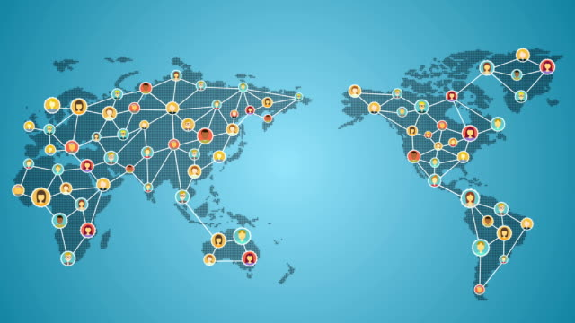 Connecting people of the world, Global business network. 2 video