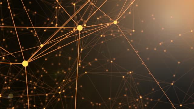 connection network concept,orange color video