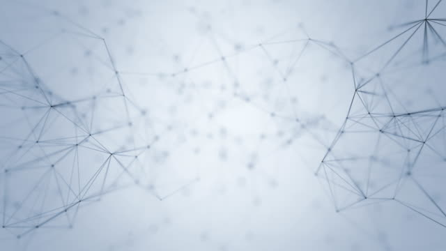 Connection Abstract web background. Black lines and dots moving randomly on light gray/white background. Seamless loop. wire mesh stock videos & royalty-free footage