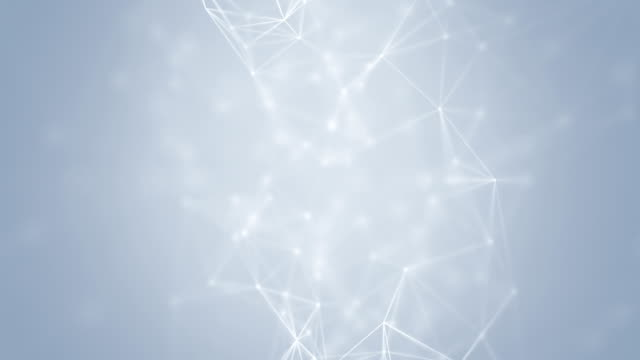 Connection Abstract web background. White lines and dots moving randomly on light gray/white background. Seamless loop. wire mesh stock videos & royalty-free footage