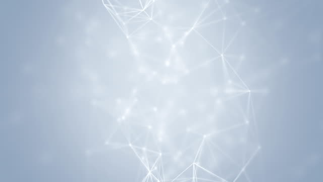 Connection Abstract web background. White lines and dots moving randomly on light gray/white background. Seamless loop. geometric background stock videos & royalty-free footage