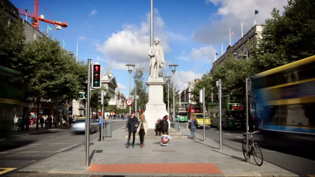 O'Connell Street, Dublin, Ireland video