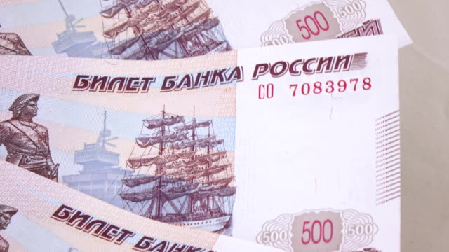 Consecutive numbers on rubles video