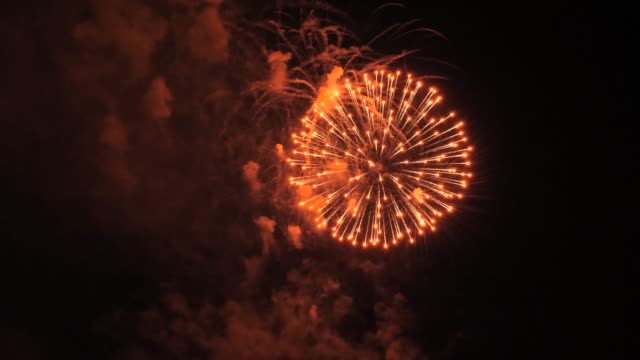 7 consecutive red sphere fireworks video