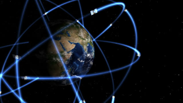 vídeos y material grabado en eventos de stock de gps constellation animación - constelación