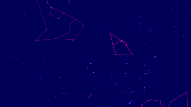 Constellation appear in the night sky over the stars video