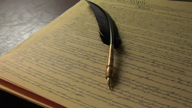U.S. Constitution and Quill Pen video