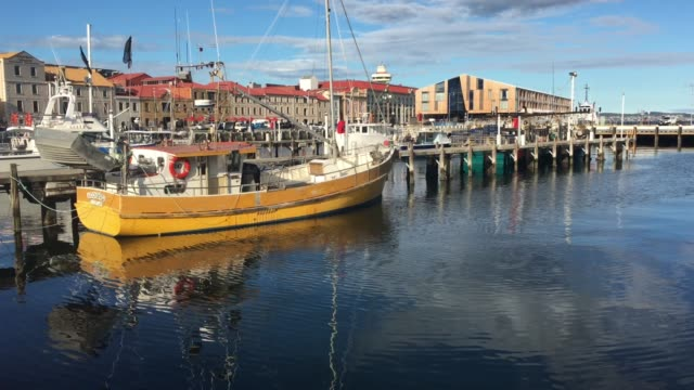 Constitution Dock in Hobart Tasmania Australia