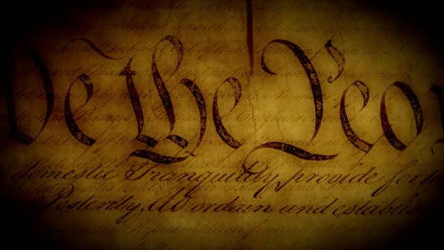 vidéos et rushes de la constitution loop - patriotisme
