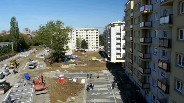 Construcion site aerial video
